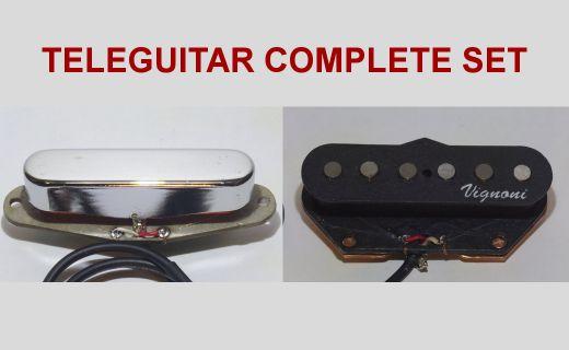 Set completo di pickups per Fender Telecaster.