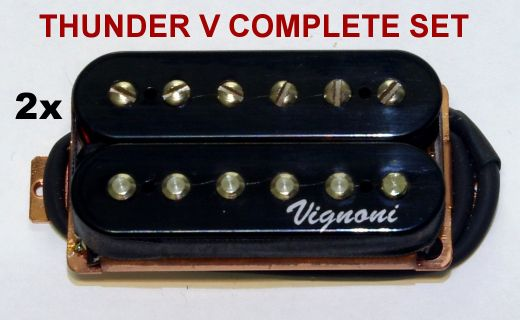 Set humbuckers THUNDER V black (bridge + neck)