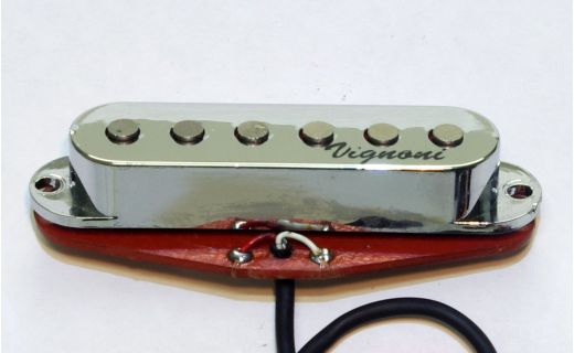 SUPERPOWERFULL single coil pickup silver chrome Ed. (middle)
