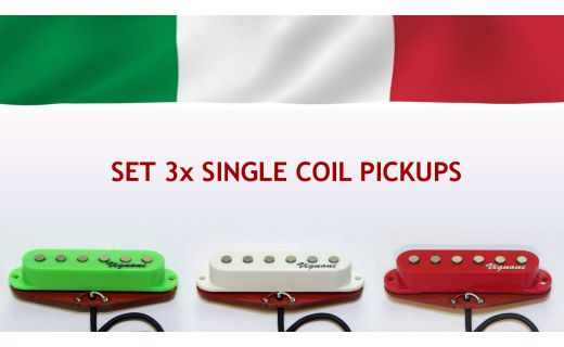 Complete set  SUPERPOWERFULL 'Italian Flag' pickups